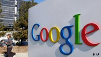 Google Logo vor Hauptsitz