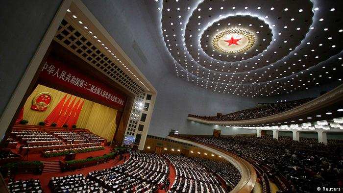 China Nationaler Volkskongress in Peking Halle