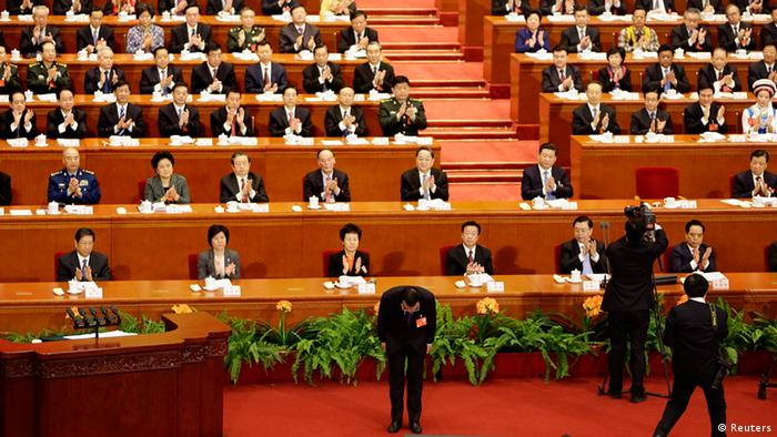 China Nationaler Volkskongress in Peking Ministerpräsident Li Keqiang