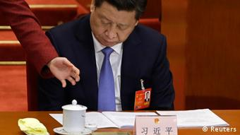 China Nationaler Volkskongress in Peking Präsident Xi Jinping
