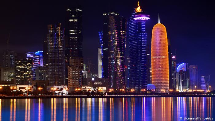 Skyline Doha at night