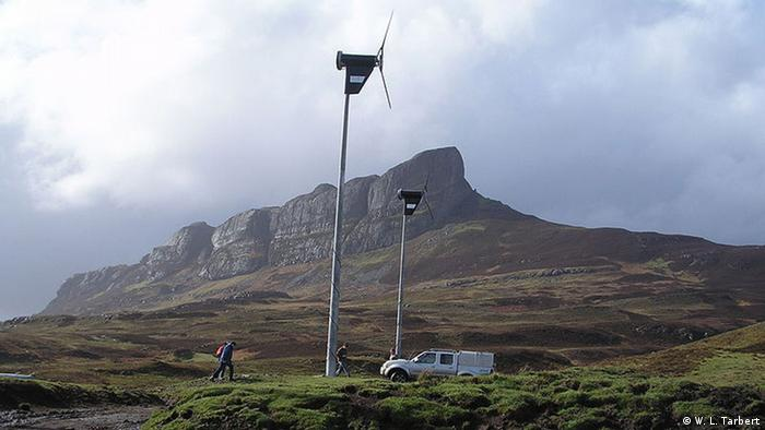 Wind turbines on Eigg in Scotland