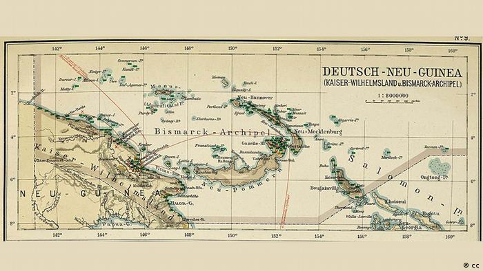 Архипелаг Бисмарка на немецкой карте 1906 года