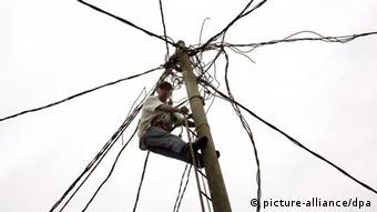 Stromleitung Kongo