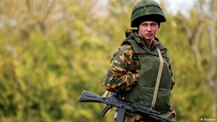 Российский солдат в Крыму. Фото из архива