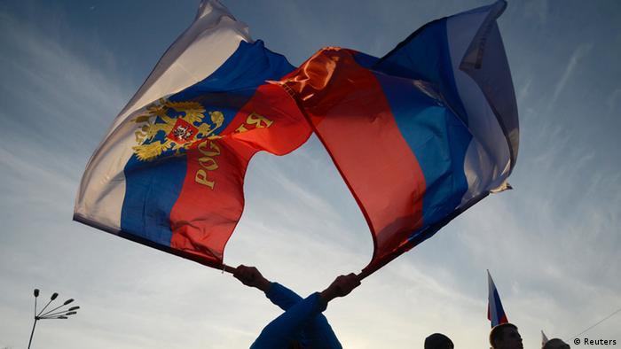 Krim Russland Ukraine Pro Russisch Demonstration 5.3.14 Yevpatoria