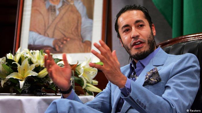 Al Saadi Gaddafi Sohn von Muammar Gaddafi Porträt (Reuters)