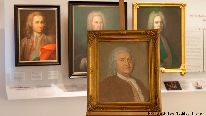 Various portraits of Johann Sebastian Bach