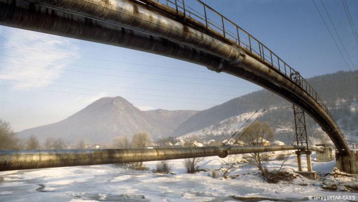 Eine Gaspipeline in der Ukraine