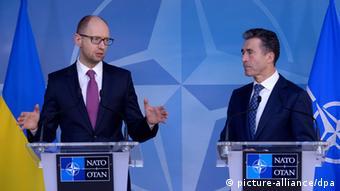 Ukraine Russland Krim-Krise Jazenjuk und Rasmussen 06.03.2014