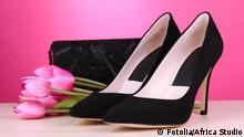 Schuhe Frau Handtasche Blume