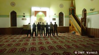 Inside the mosque in Bakhchisaray, Crimea