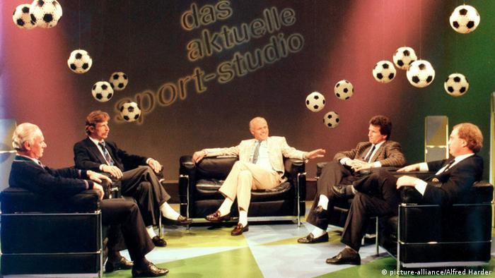 Christoph Daum and Uli Hoeness on a talk show