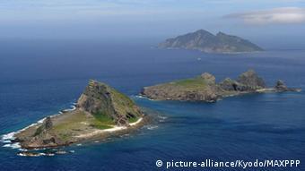 The Senkaku Islands in the East China Sea, (from front to back) Minamikojima, Kitakojima and Uotsuri Island. (Kyodo)