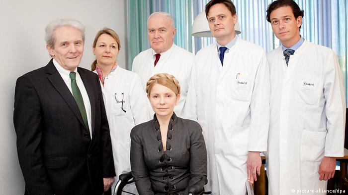 Yulia Timoschenko with doctors in Berlin