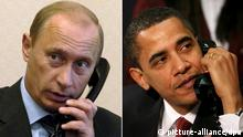 Wladimir Putin und Barack Obama am Telefon