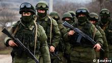 Ukraine russische Soldaten Simferopol