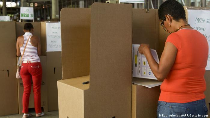 Bürger wählen ein neues Parlament in Kolumbien (Foto: afp)