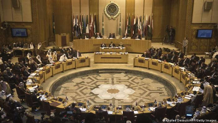 Arab League seated in conference room