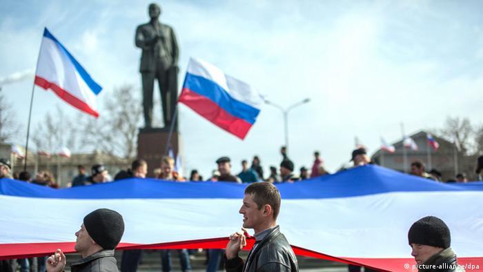 Pro-Russian demonstrators in Ukraine