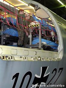 Ein Lazarettflugzeug der Bundesluftwaffe