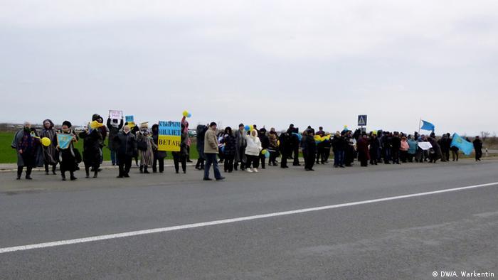 Protesters in Crimea
