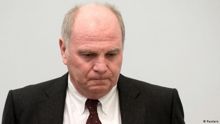 Uli Höneß, la începutul procesului de evaziune fiscală