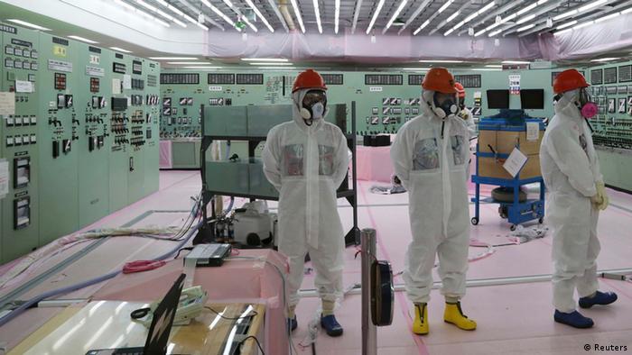 Kontrollraum für die Reaktoren 1 und 2 des AKW Fukushima (Foto: Reuters)