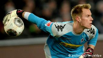 Marc-Andre ter Stegen with football in hand