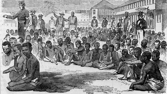 Illustration of slaves in Jamaica