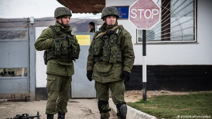Russian military personnel without insignia known as little green men were responsible for Russia's forcible annexation of Crimea in 2014