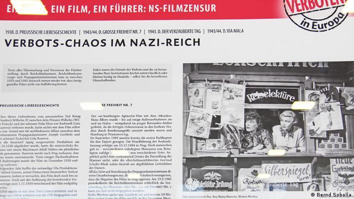 Filmzensur in Europa Ausstellungsansicht mit Schautafel zu Der verzauberte Tag (Foto: Bernd Sobolla)