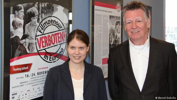 Swenja Schiemann und Ernst Szebedits (Foto: Bernd Sobolla)