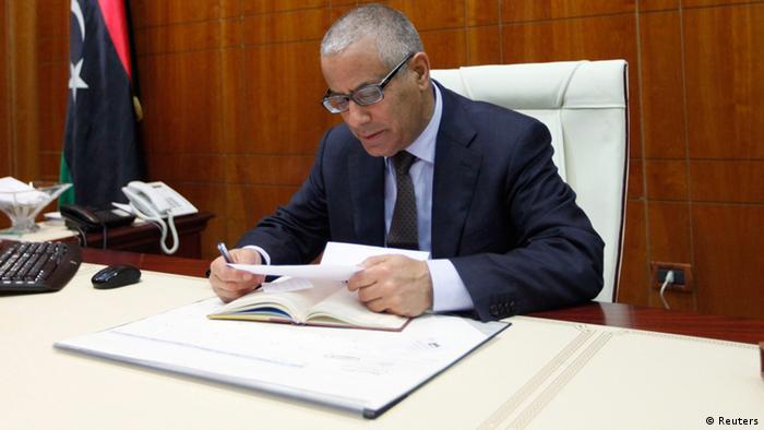 Libyen Premierminister Ali Zeidan 10.3.2014