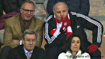 Champions League Achtelfinale FC Bayern München - Arsenal London Uli Hoeneß