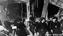 Der in Trümmern liegende Münchner Bürgerbräukeller nach einem Der in Trümmern liegende Münchner Bürgerbräukeller nach einem mißlungenen Anschlag auf Adolf Hitler am 8. November 1939. Bei dem Anschlag kamen sechs Menschen ums Leben, 63 wurden verletzt.am 8. November 1939. Bei dem Anschlag kamen sechs Menschen ums Leben, 63 wurden verletzt.