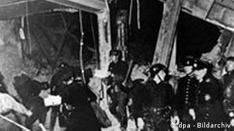 The Bürgerbräukeller after the bomb attack