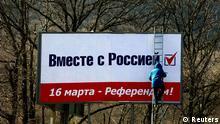 Плакат в поддержку присоединения Крыма к России