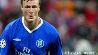 Robert Huth in a Chelsea kit