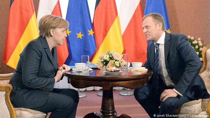 Angela Merkel und Donald Tusk am 12.03.2014 in Warschau (Foto: Getty Images)