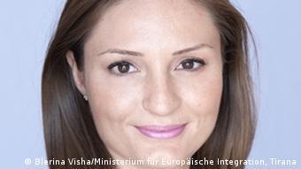 Klajda Gjosha Ministerin für Europäische Integration Albanien (Foto: DW/Ani Ruci)