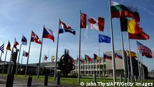 Belgien Nato-Hauptquartier in Brüssel Flaggen