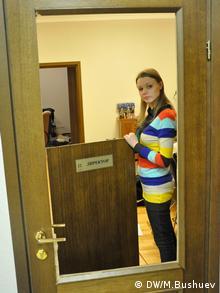 Журналистка Анна Бабинец в Межигорье