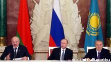 Treffen der Präsidenten von Russland, Kasachstan, Belarus