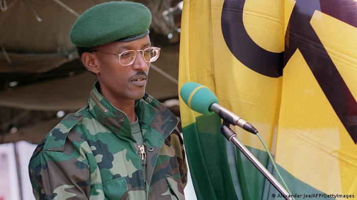 A young Paul Kagame in July 1994