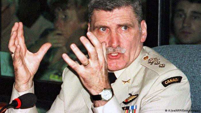 Former UN commander Romeo Dallaire in uniform (A.Joe/AFP/GettyImages)