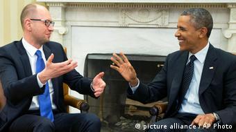 Obama trifft Jazenjuk in Washington