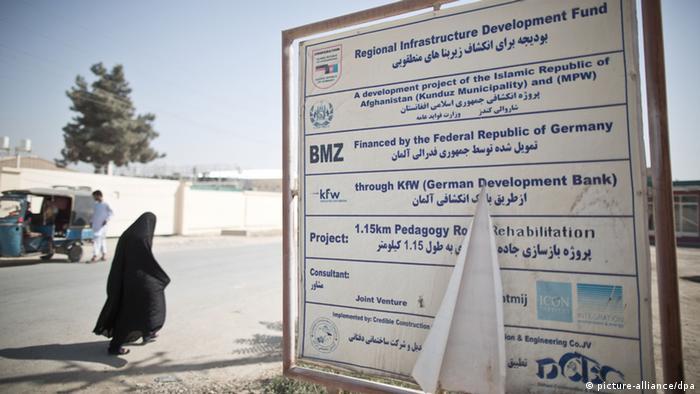 Devant le bureau de la Coopération allemande à Kunduz, en 2013