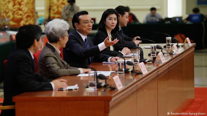 Li Keqiang Pressekonfernz Volkskongress