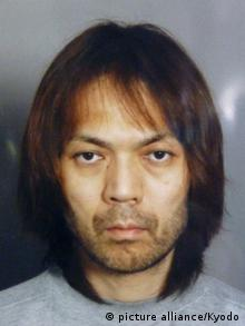 Makoto Hirata, a former senior member of the AUM Shinrikyo doomsday cult, currently on trial at the Tokyo District Court after been charged with involvement in the abduction and confinement of a Tokyo notary public.